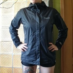 Columbia Arcadia II waterproof rain jacket black L